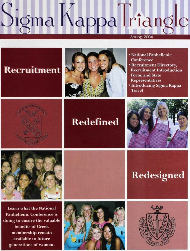 2004 Sigma Kappa Triangle Spring issue cover